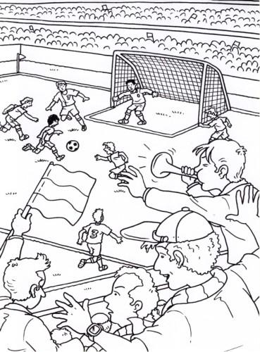 Disegni Da Colorare Partita Di Calcio.Colora Con Noi Sei Disegni Da Scaricare E Colorare A Tema Calcistico