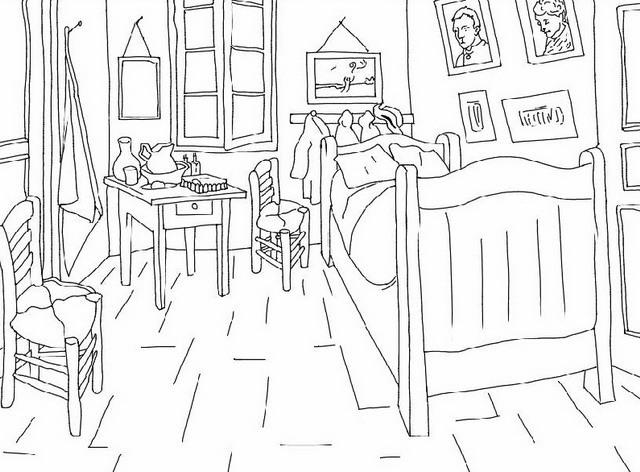 Colora Con Noi Quattro Quadri Di Van Gogh Da Scaricare E Colorare