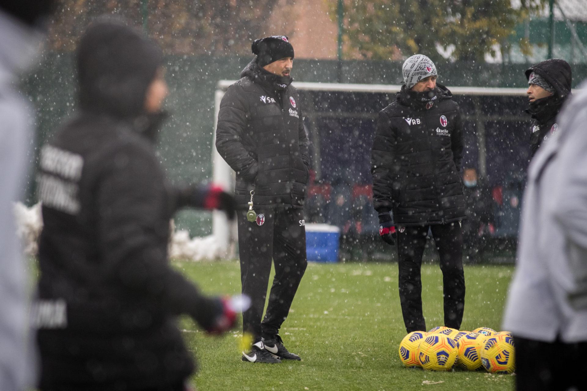 Il Resto del Carlino - Il Bologna si allena sotto la neve