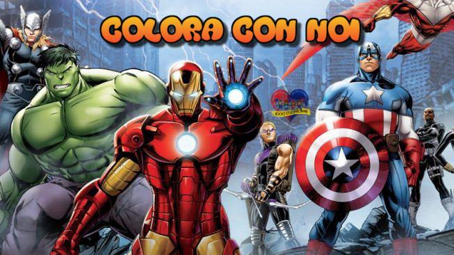 Colora con noi! Cinque disegni da scaricare e colorare di Supereroi
