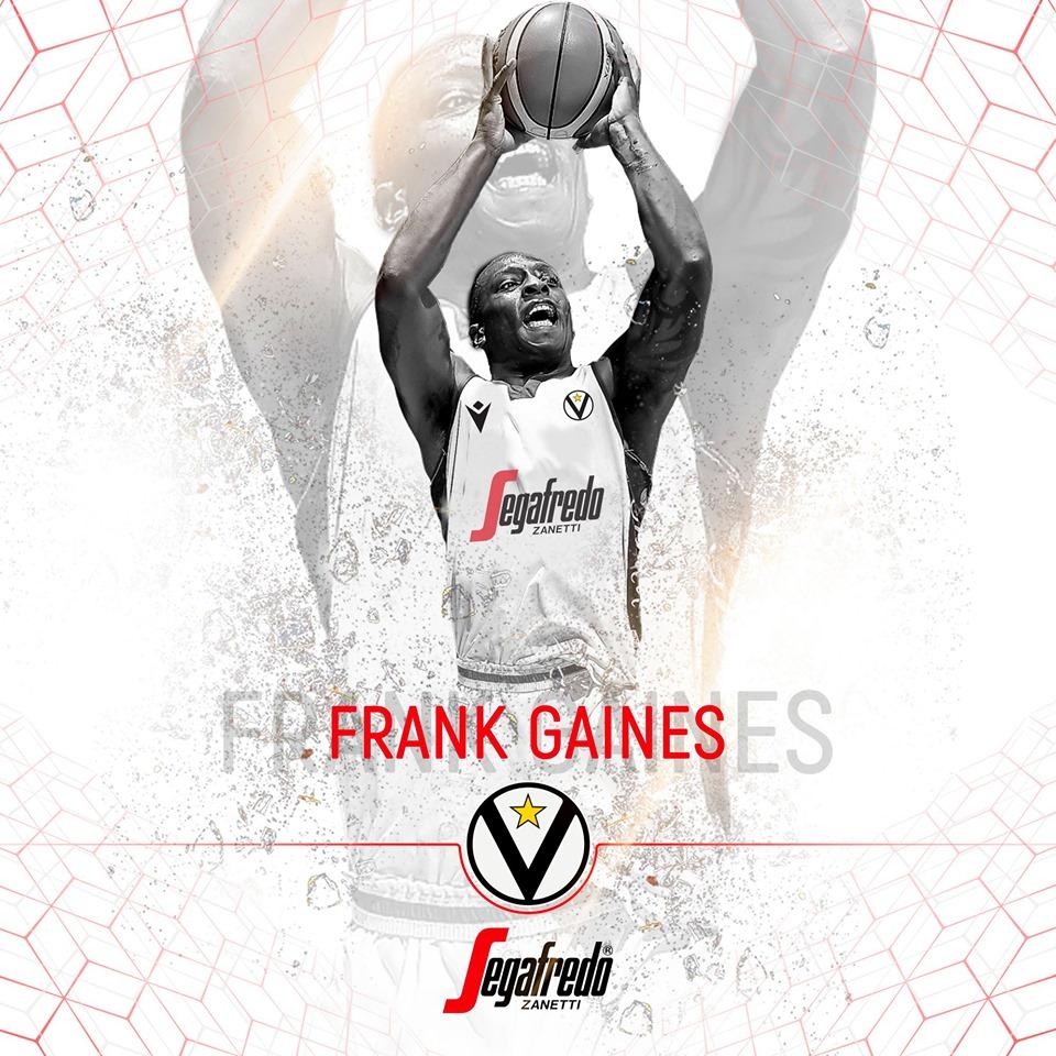 Virtus Pallacanestro: Frank Brandon Gaines è un nuovo giocatore bianconero
