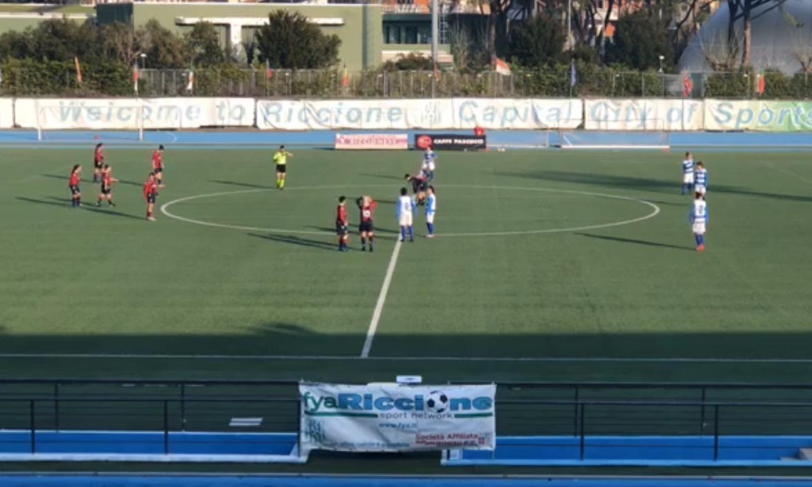 Bologna femminile beffato nel finale, a Riccione finisce 3-2
