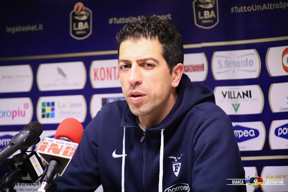Coppa Italia: coach Martino presenta la sfida tra Fortitudo Pompea e Brescia
