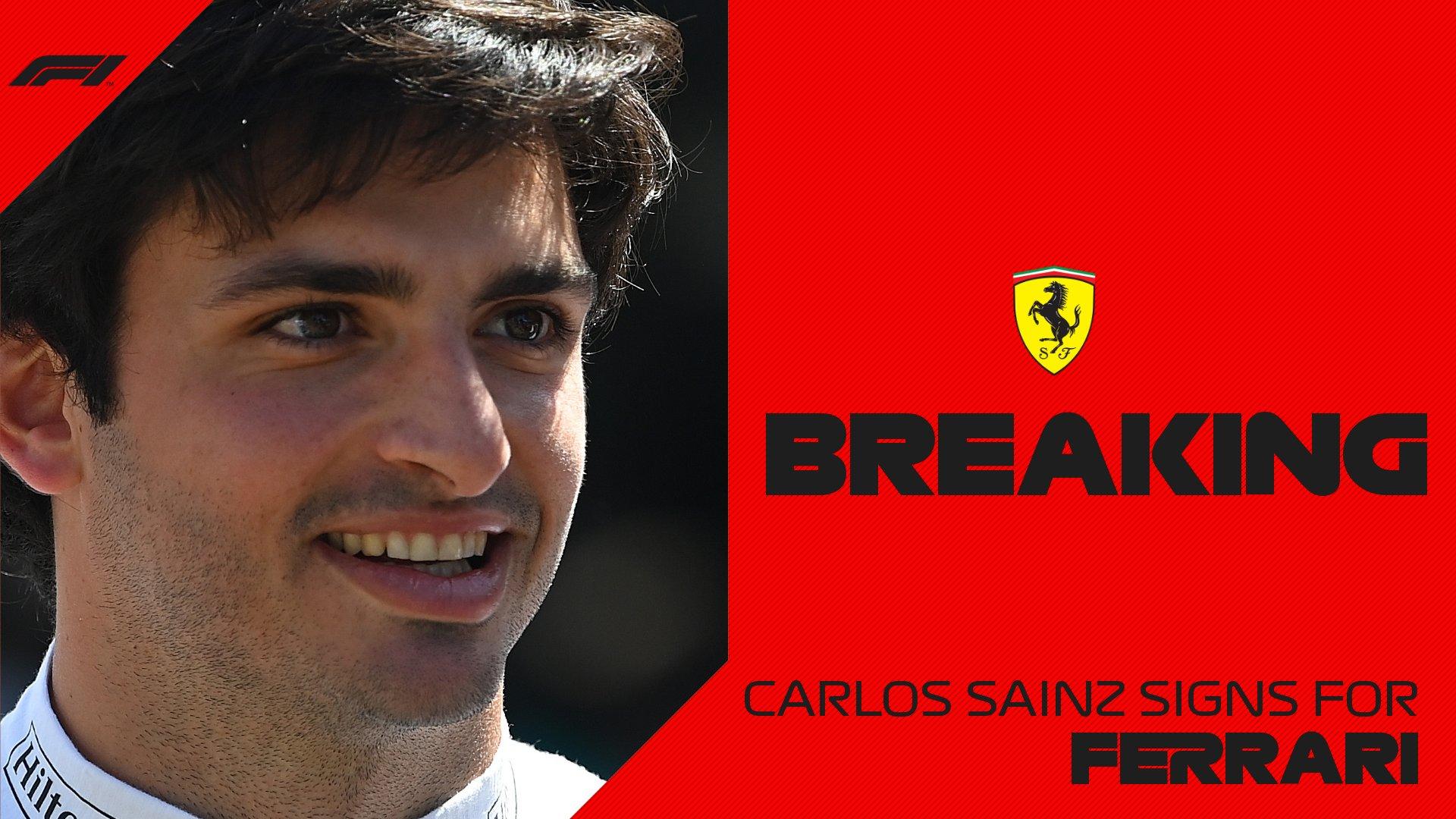 Formula 1 - Ufficiale: Carlos Sainz firma per la Ferrari