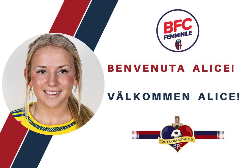 Ufficiale, il Bologna femminile tessera la svedese Alice Magnusson