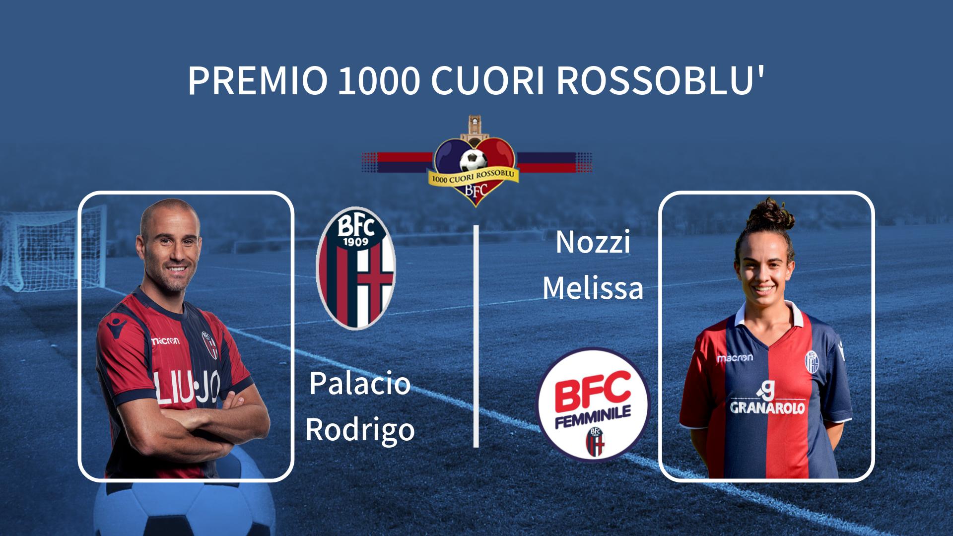 """Nozzi e Palacio vincono il secondo """"Premio 1000 Cuori Rossoblù"""""""