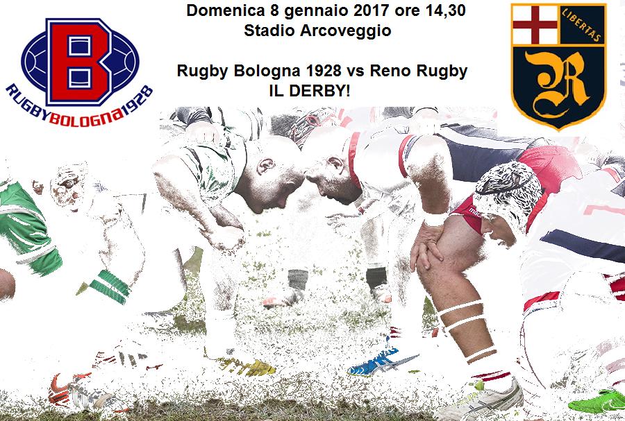 Rugby: oggi il Derby tra Bologna 1928 e Reno 1967 - 8 gen