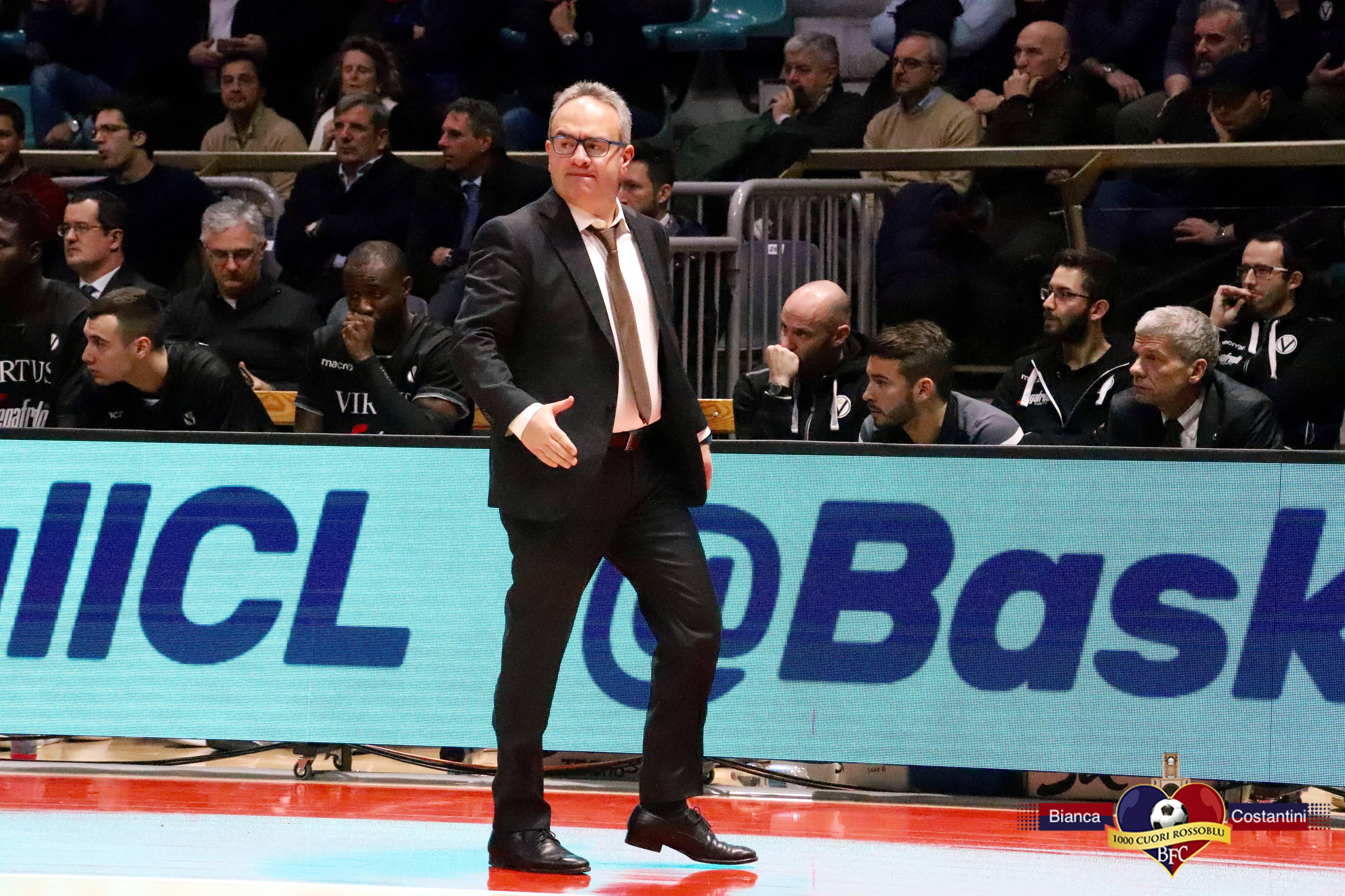Le parole di coach Sacripanti alla vigilia della partita Virtus-Trieste