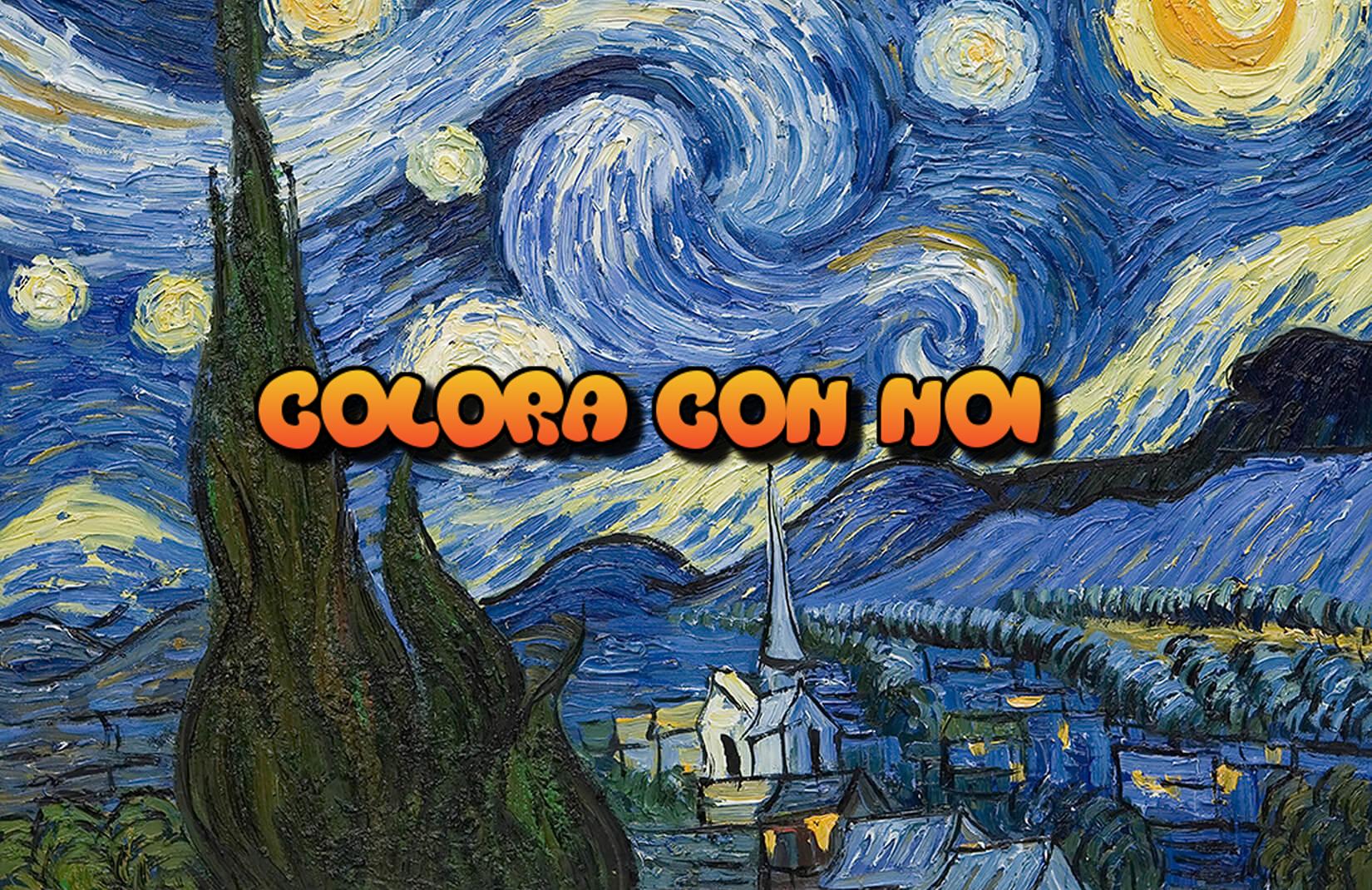 Colora con noi! Quattro quadri di Van Gogh da scaricare e colorare