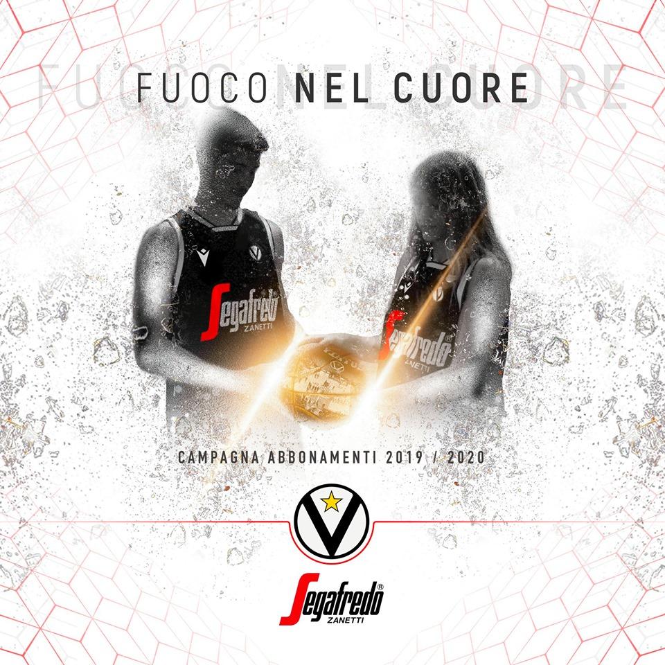 """Virtus Pallacanestro: Presentata la Campagna Abbonamenti 2019-2020 """"Fuoco nel Cuore"""""""