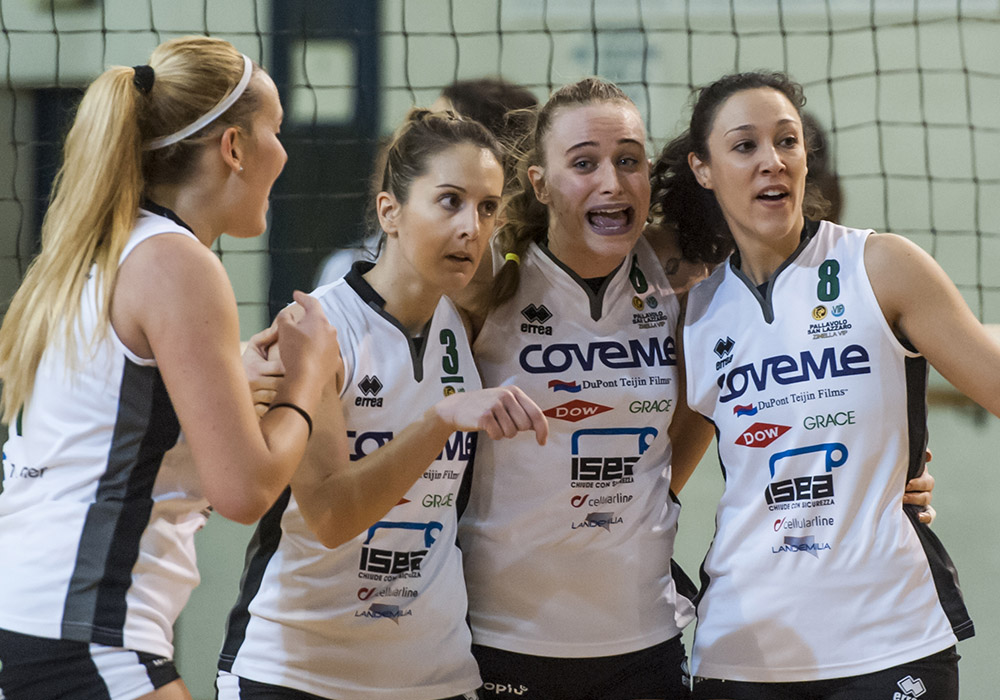 Volley B1- Battuta d'arresto per la Coveme, al tie-break passa Moie – 26 mar