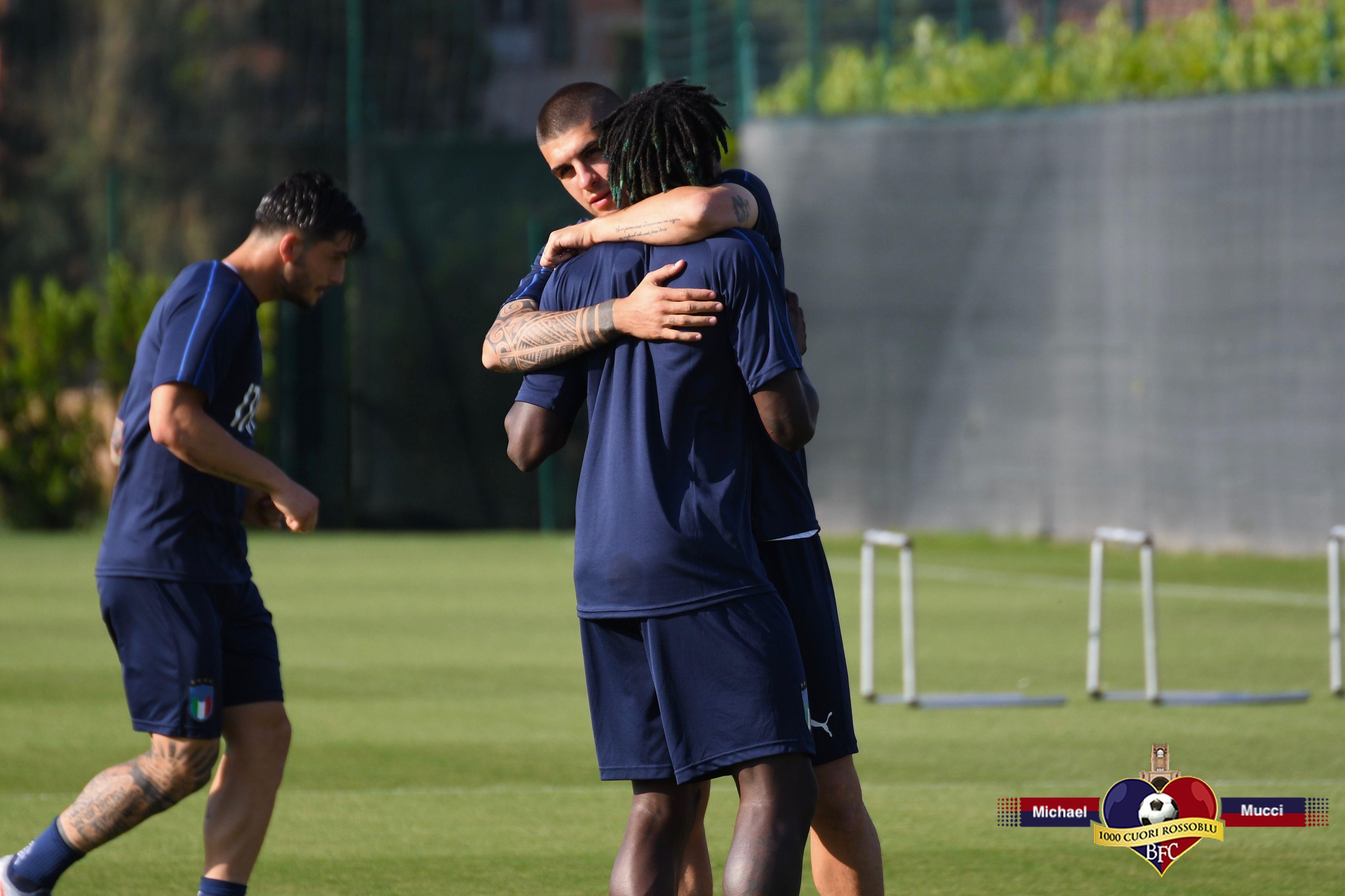 Italia U21, sono arrivati i ragazzi dalla Nazionale di Mancini: le foto dell'allenamento