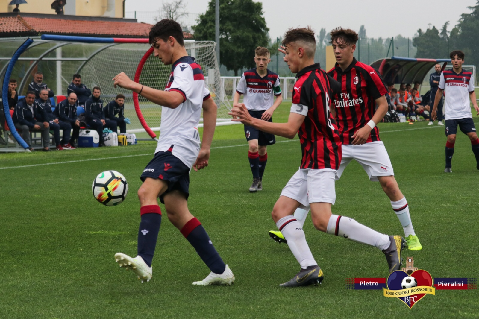 Nulla da fare per il Bologna Under 15: la gara d'andata dei quarti di finale va al Milan!